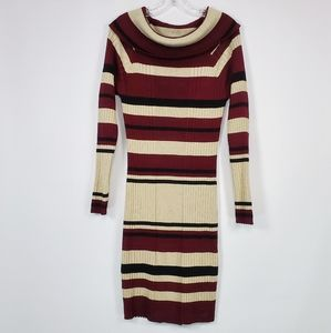No Boundaries maroon and gold sweater dress XXL